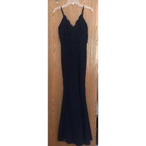 Navy Blue Long Formal Dress